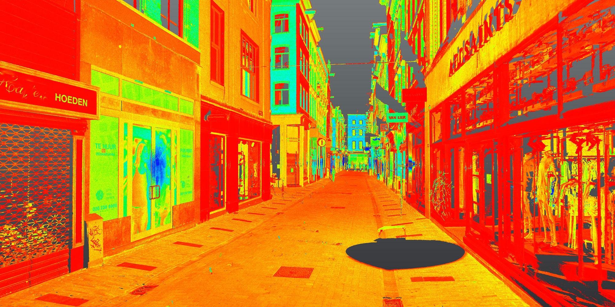3D-scannen op de Kalverstraat